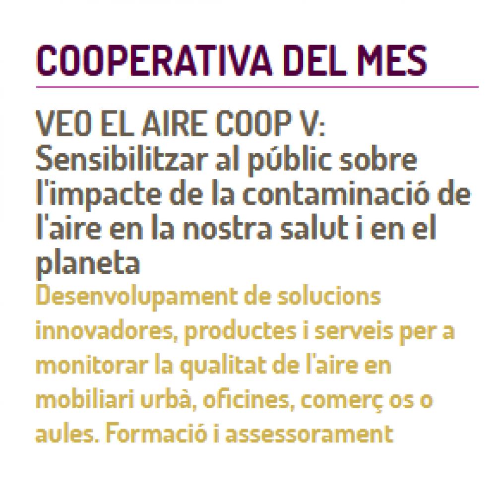 VÉOLO nombrada cooperativa del mes por FEVECTA